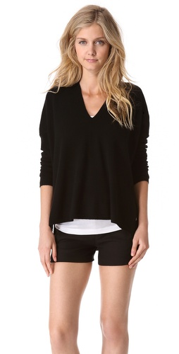 Vince Seamed V Neck Sweater at Shopbop / East Dane