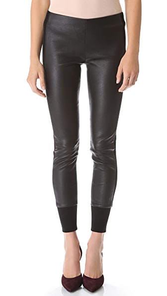 Vince Slim Leather Pants