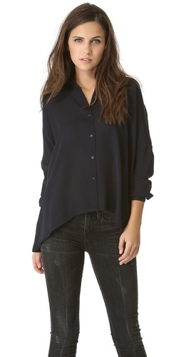 Vince Drape Hem Blouse at Shopbop / East Dane