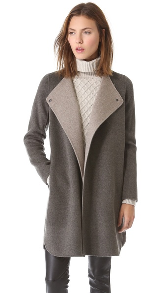 Vince Asymmetrical Shirttail Coat