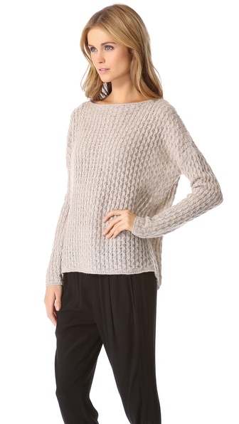Vince Mini Cable Shirttail Sweater