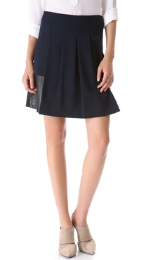 Vince Leather Trim Skirt
