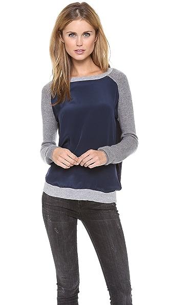 Vince Colorblock Raglan Sweater