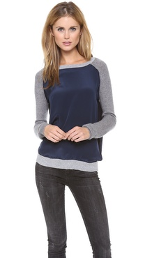 Vince Colorblock Raglan Sweater