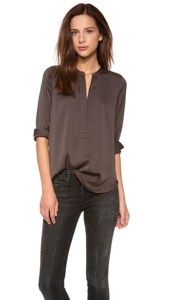 Vince Zip Placket Top