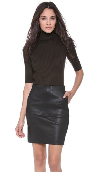 Vince Elbow Sleeve Turtleneck Sweater