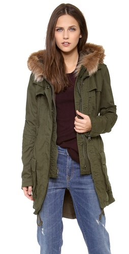Vince Fur Trimmed Hooded Anorak at Shopbop / East Dane