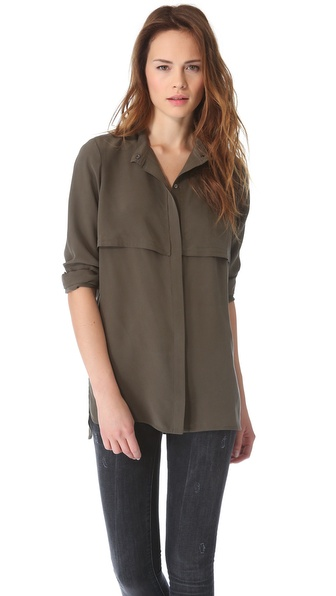Vince Military Blouse
