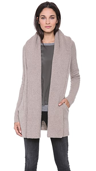 Vince Ribbed Shawl Cardigan