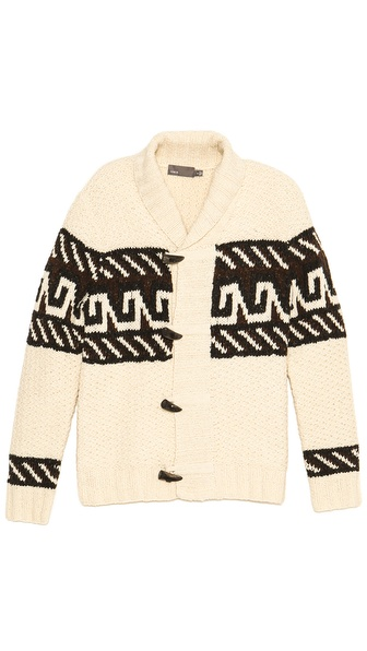 Vince Hand Knit Toggle Cardigan