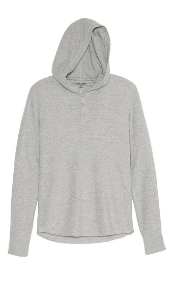 Vince Thermal Hooded Henley