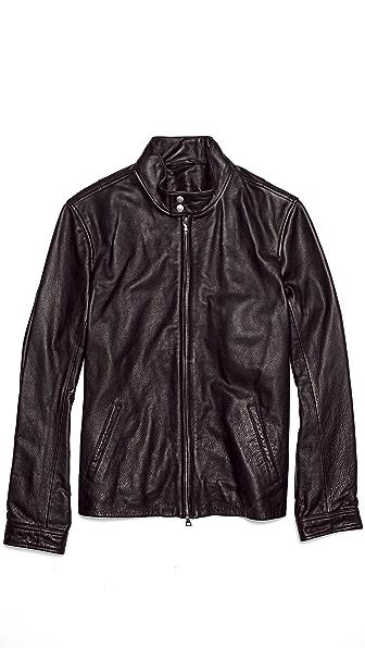 Vince Harrington Leather Motorcycle Jacket