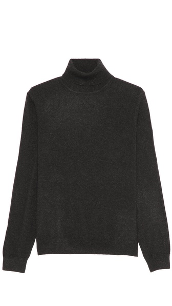Vince Cashmere Turtleneck with Elbow Patches