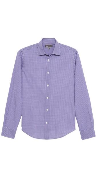 Vince Small Check Dress Shirt