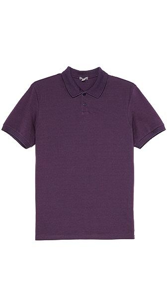 Vince Fine Pique Short Sleeve Polo