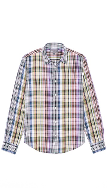 Vince Plaid Sport Shirt