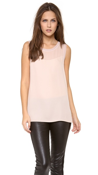 Vince Sheer Inset Tank