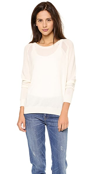 Vince Sheer Panel Cashmere Sweater