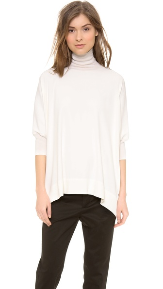 Vince Cashmere Trim Fitted Poncho - Ivory at Shopbop / East Dane