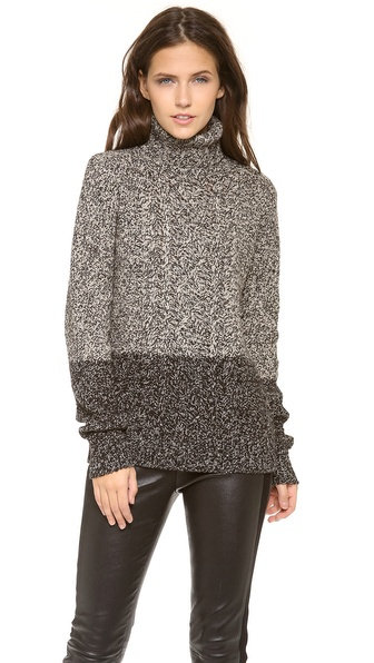 Vince Color Twist Turtleneck Sweater