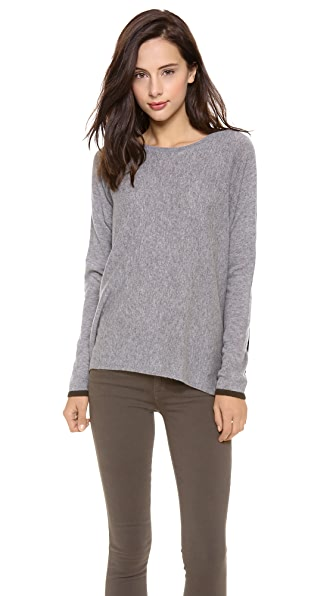 Vince Relaxed Cashmere Colorblock Sweater