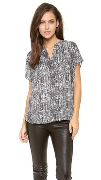 Vince Vee Placket Blouse