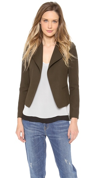 Vince High Double Closure Jacket