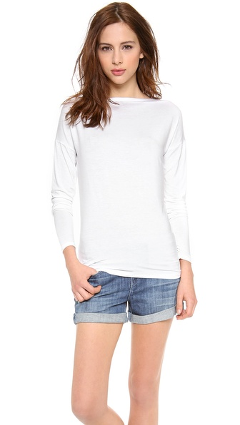 Vince Boatneck Tee - White at Shopbop / East Dane