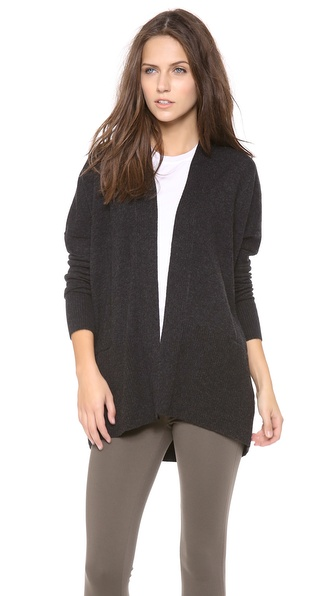 Vince Ribbed Cashmere Cardigan