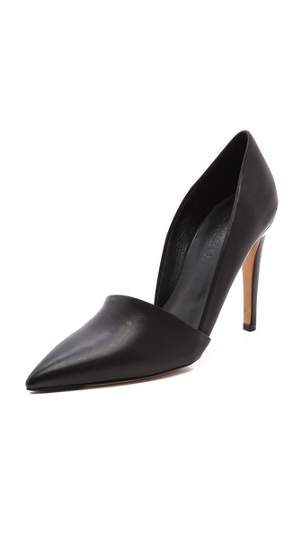 Vince Anya Asymmetrical Pumps - Black at Shopbop / East Dane