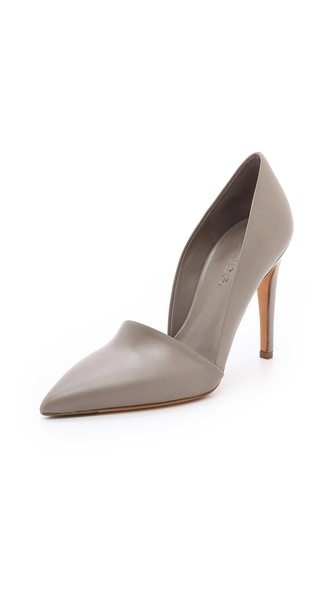 Vince Anya Asymmetrical Pumps - Woodsmoke at Shopbop / East Dane