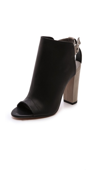 Vince Addison Cutout Booties - Black/Woodsmoke at Shopbop / East Dane