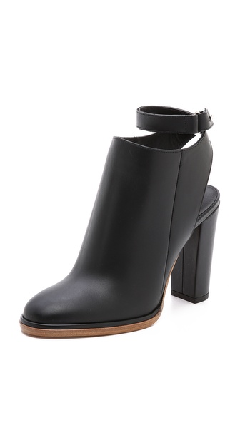 Vince Joanna Cutout Booties - Black at Shopbop / East Dane