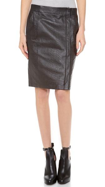 Vince Snake Embossed Pencil Skirt