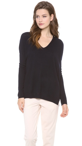 Vince Rack Stitch Cashmere Sweater