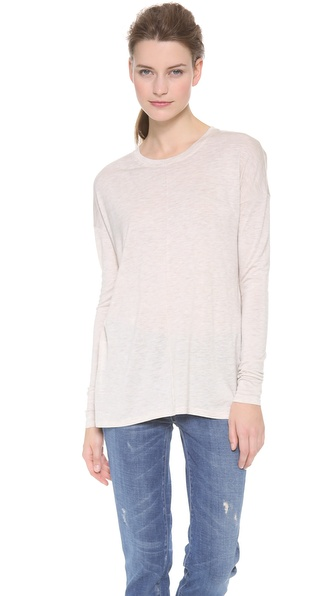 Vince Long Sleeve Pintuck Front Tee