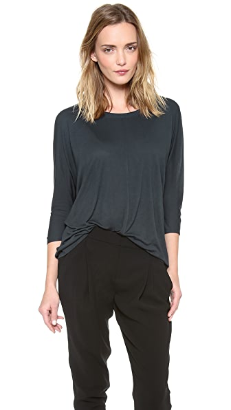 Vince 3/4 Sleeve Stretched Top