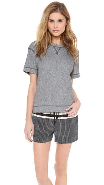 Vince Luxe Short Sleeve Sweatshirt