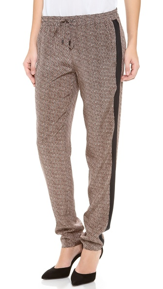 Vince Diagonal Print Strapping Pants