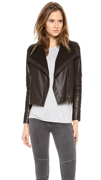 Vince Side Zip Leather Jacket
