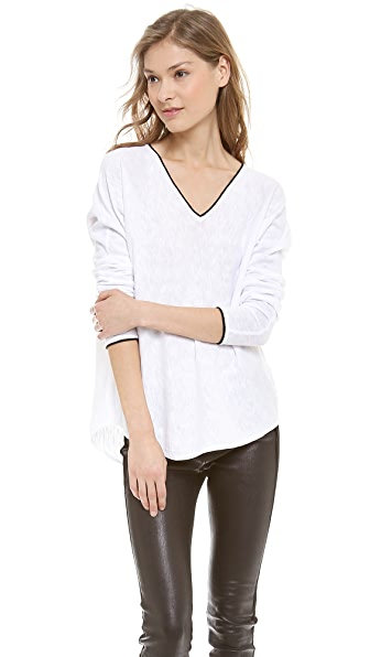 Vince Slub V Neck Sweater