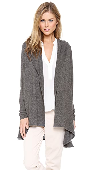 Vince Hooded Cashmere Cardigan