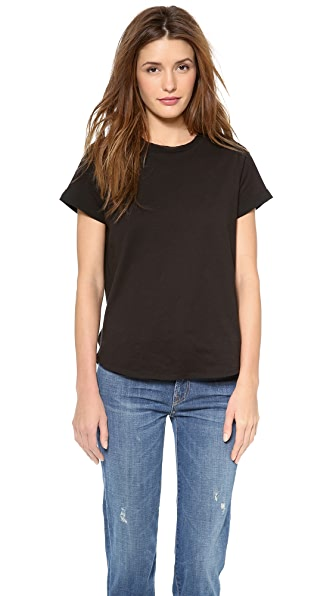 Vince Silk Trim Shirttail Tee