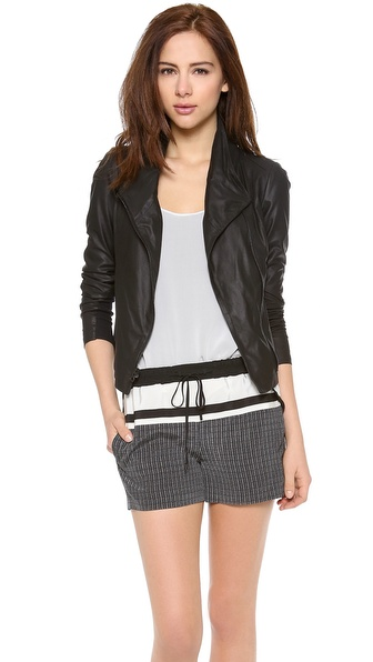 Vince Scuba Leather Jacket