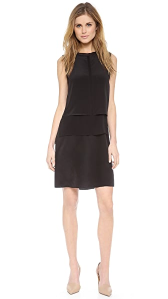 Vince Sleeveless Overlay Dress