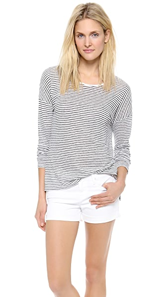 Vince Striped Long Sleeve Tee