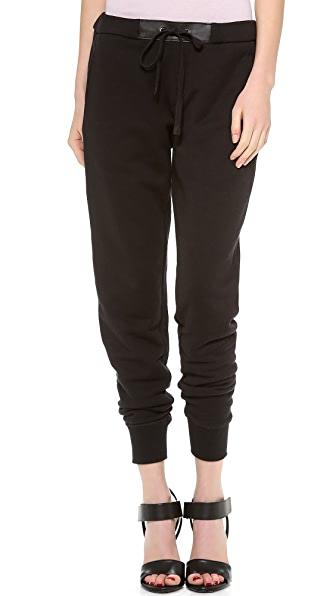 Vince Sweatpants with Leather Trim