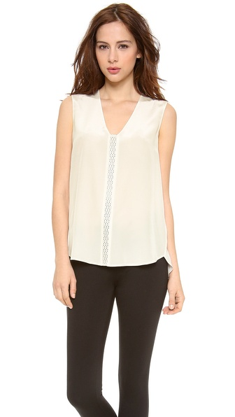 Vince Perforated Insert Cami