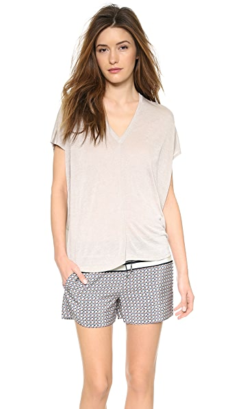 Vince Seam V Neck Top