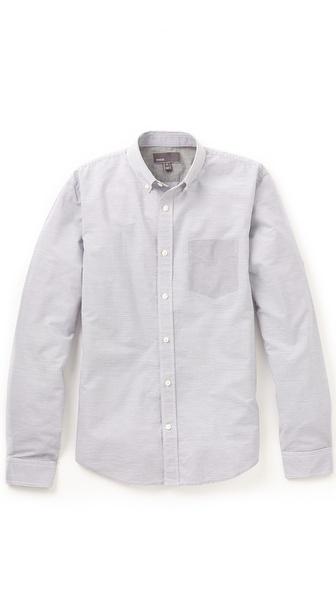 Vince Contrast Micro Stripe Shirt